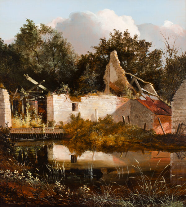 NEWCOMBE Peter (b.1943) - 'Old Water Mill, Cosgrove', Northamptonshire.
