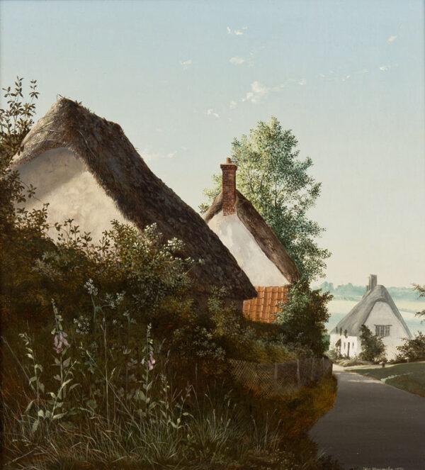 NEWCOMBE Peter (b.1943) - 'Throup, Dorset'.