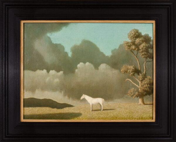 NEWTON Algernon R.A. (1880-1968) - White horse and storm cloud.