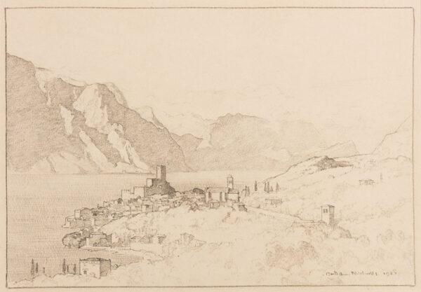 NICHOLLS Bertram P.R.B.A. (1883-1974) - 'Lake Garda'.