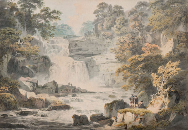 NICHOLSON Francis O.W.S. (1753-1844) - 'Stone Byer Lin, a Fall of the Clyde below Lanerk' (sic).