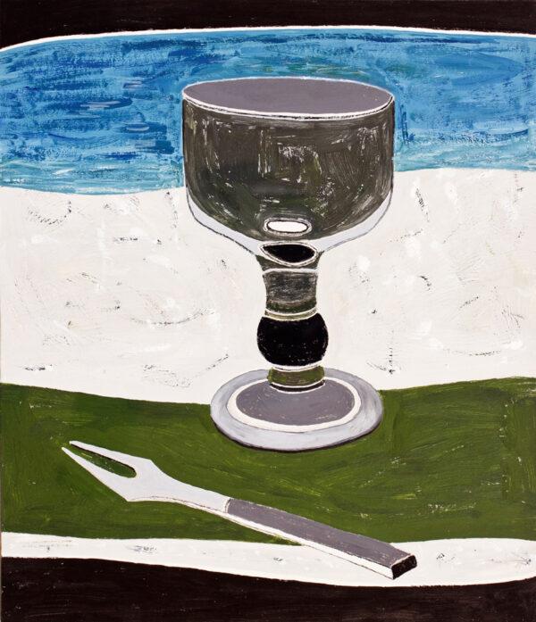 NICHOLSON Rachel (b.1934) - 'Goblet on green'.