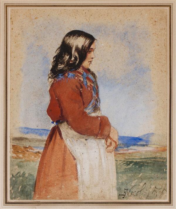 NICOL Erskine R.S.A. A.R.A. (1825-1904) - The Scots girl.