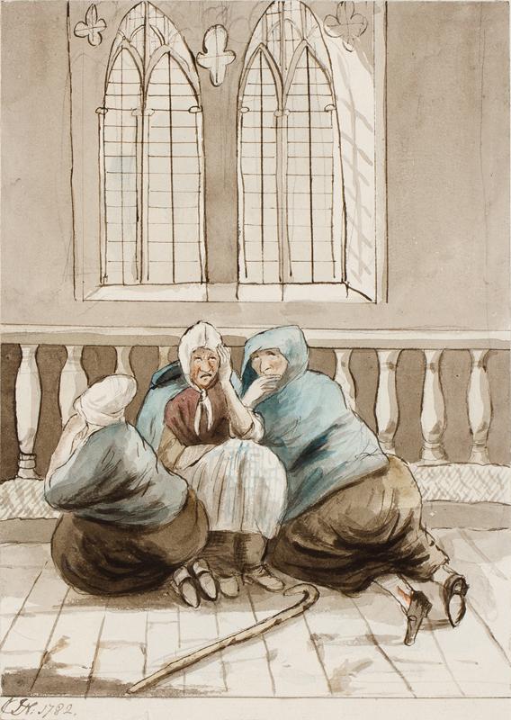 NIXON John (c.1750-1818) - 'In Church'.