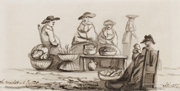 NIXON John (c.1750-1818) - 'The Market at Chester'.