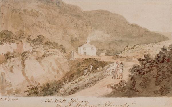 NIXON John (c.1750-1818) - Worcestershire: 'Great Malvern, The Well House'.
