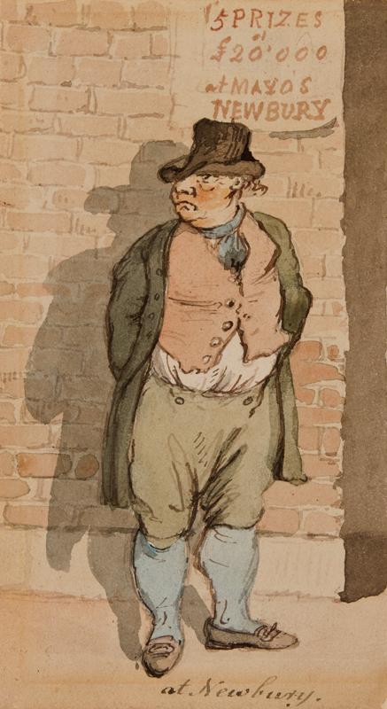NIXON John (c.1750-1818) - 'At Newbury': a race goer.
