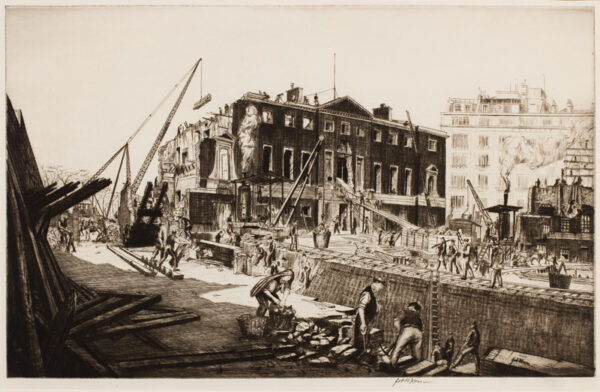 NIXON Job R.E. (1891-1938) - 'The Demolition of Devonshire House'.