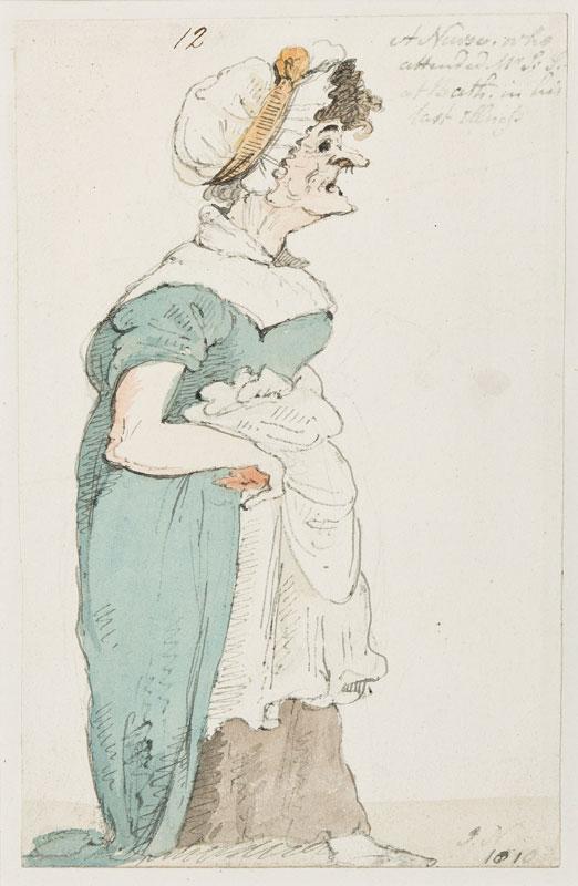 NIXON John (c.1750-1818) - 'A Nurse who / attended Mr S.