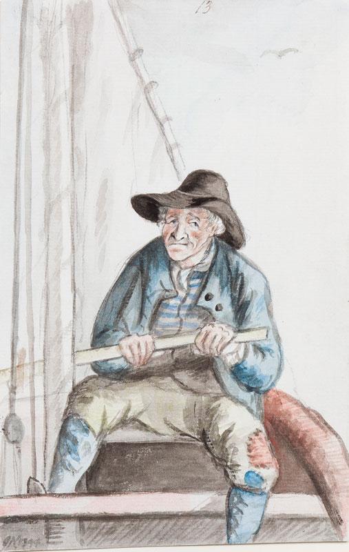 NIXON John (c.1750-1818) - Boatman at Plymouth.