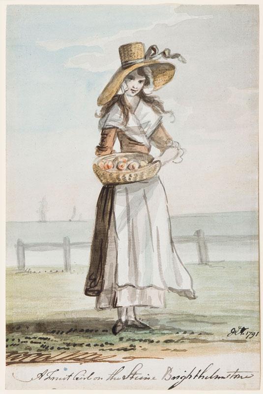 NIXON John (c.1750-1818) - 'A Fruit Girl on the Steine, Brighthelmstone'.
