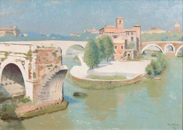 NORDEN Gerald (1912-2000) - Isola Tiberina, Rome.