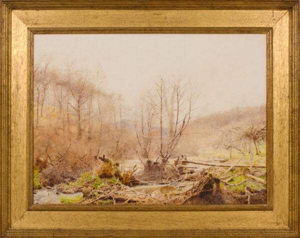 NORTH John William R.A. R.W.S. (1842-1924) - The woodland stream.