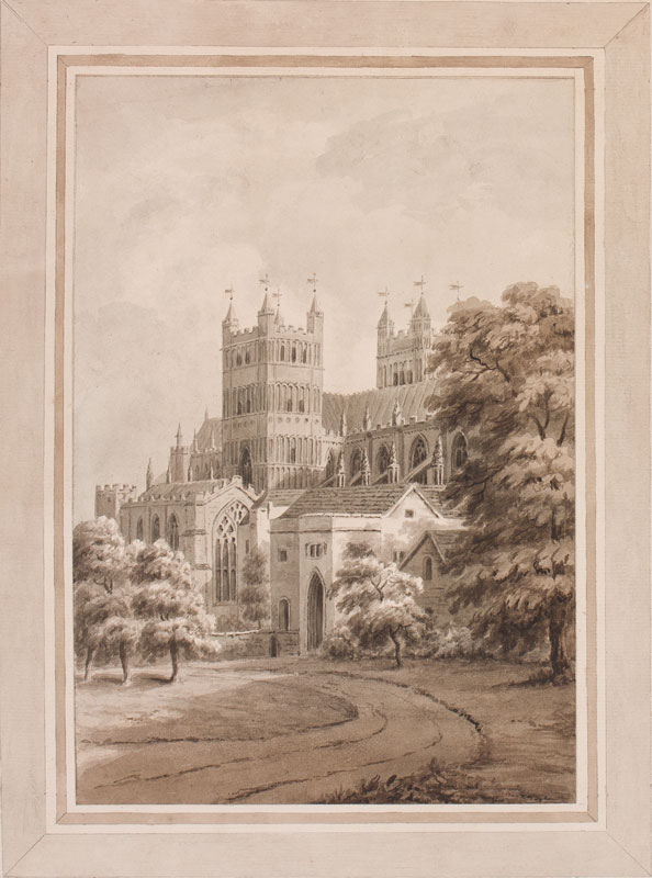 DEVON (subject) by 'Nutcombe'. 1812. - 'Cathedral, Exeter'.