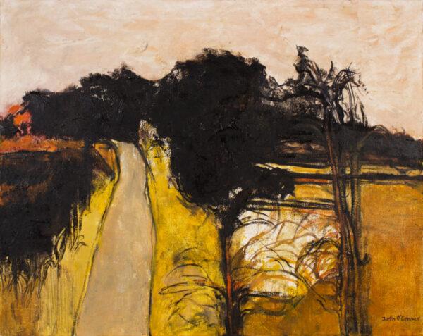 O'CONNOR John R.E. R.W.S. (1913-2004) - 'Box Lane and Wood'; Essex landscape Oil on canvas.
