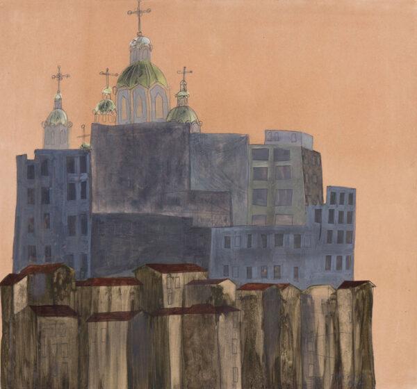 OFEK Avraham (1935 - 1990) - View of Jerusalem.