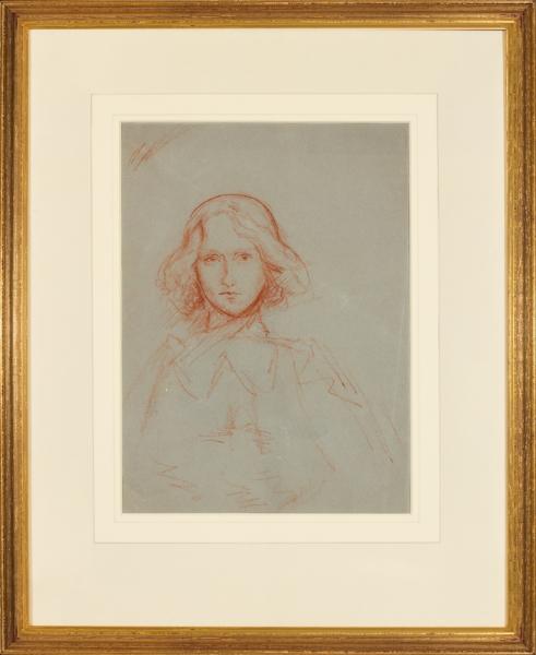 ORPEN Sir William R.A. R.W.S. (1878-1931) - Head of a girl.