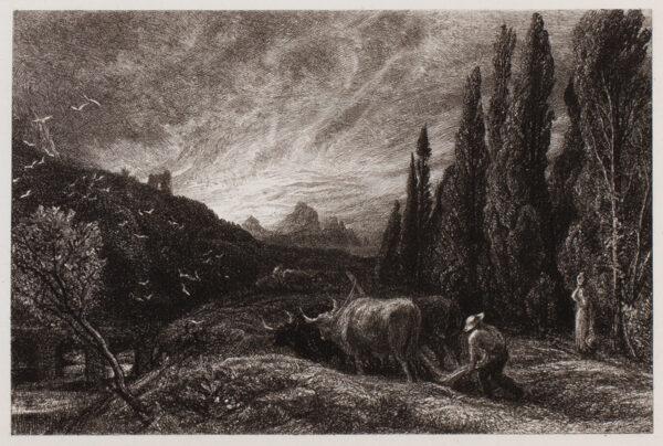 PALMER Samuel R.W.S. (1805-1881) - 'The Early Ploughman' (L9).