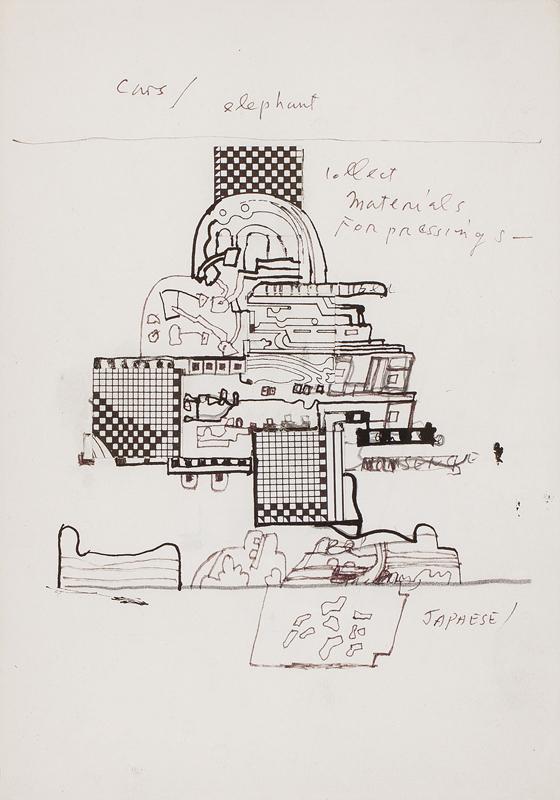 PAOLOZZI Sir Eduardo R.A. (1924-2005) - 'Cars / Elephant'.