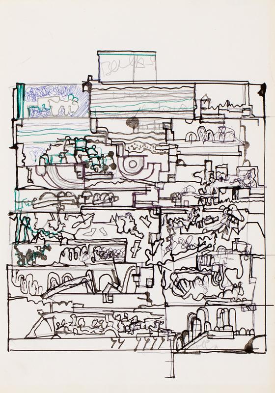 PAOLOZZI Eduardo K.B.E. R.A. (1924-2005) - Study for a screen print.