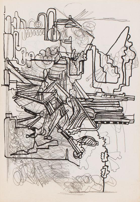 PAOLOZZI Sir Eduardo R.A. (1924-2005) - Composition study.