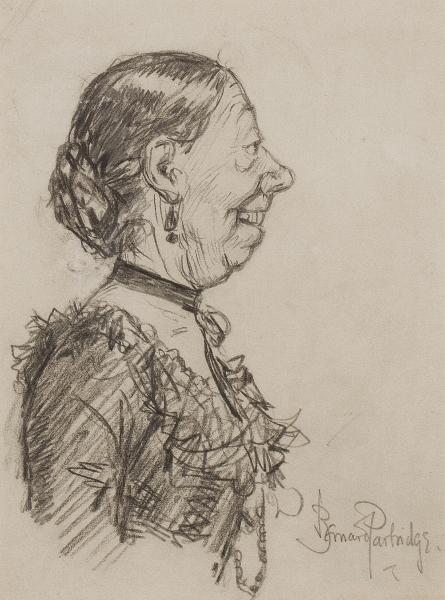 PARTRIDGE Sir Bernard R.I. (1861-1945) - 'Madge Kendal' the Victorian actress and Dame (1848-1935).