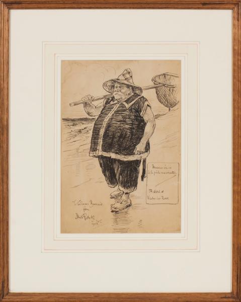 PARTRIDGE Bernard R.I. N.E.A.C (1861-1945) - 'A sketch at Veules-les-Roses'.