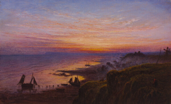 PATON Waller Hugh R.S.A R.S.W. (1828-1895) - Coastal sunset.