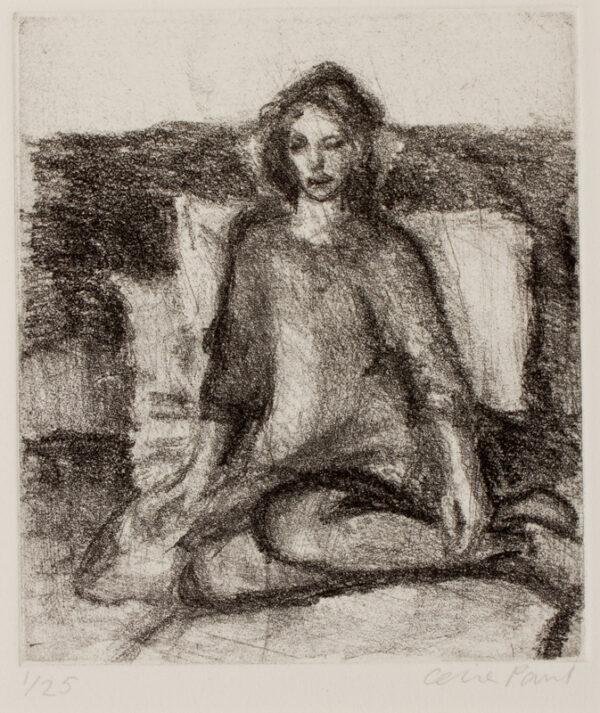 PAUL Celia (b.1959) - Seated girl.