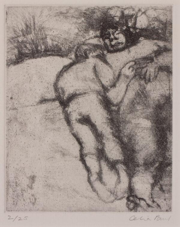 PAUL Celia (b.1959) - Two figures.