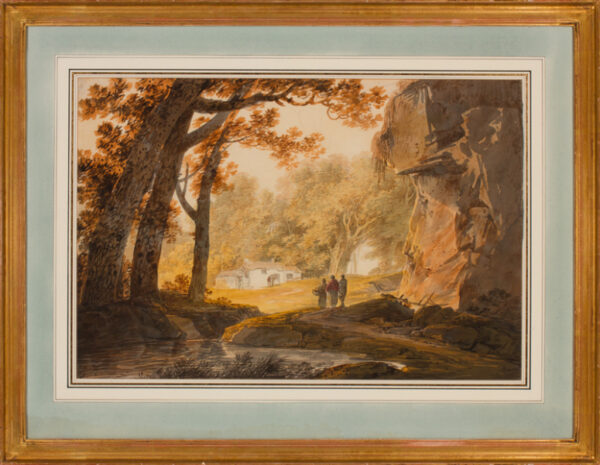 PAYNE William (1760-1830) - West Country woodland hamlet.
