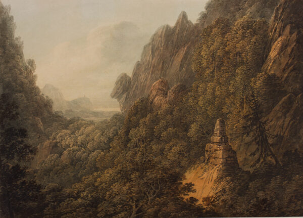 PAYNE William (1760-1830) - Rocky view to an estuary.