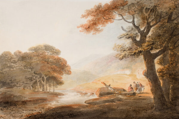 PAYNE William (1760-1830) - Landscape; possibly the Vale of Neath, Glamorgan.