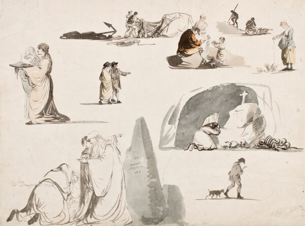 PAYNE William (1760-1830) - A page of studies.
