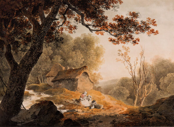 PAYNE William (1760-1830) - A Welsh cottage, possibly at Wyesham, near Monmouth.