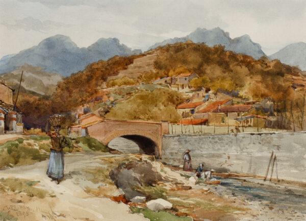 PELHAM James (1840-1906) - The Borrigo Valley, near Mentone.