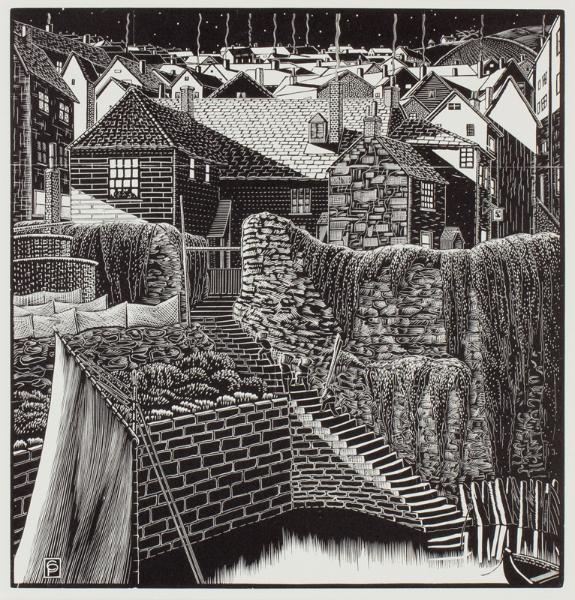 PELLEW Claughton (1890-1966) - Harbour at night.