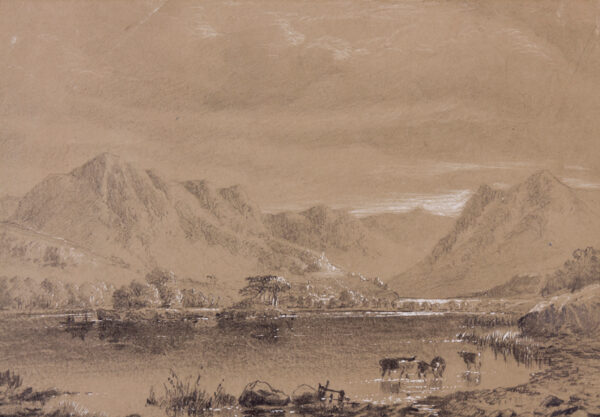 PETHER Abraham (1756-1812) - 'Crummock and Buttermere Lakes from near Scale Force'.