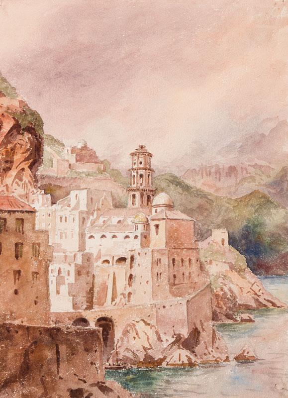 PETIT Rev. John Louis (1801-1868) - Nine watercolours of Italy.