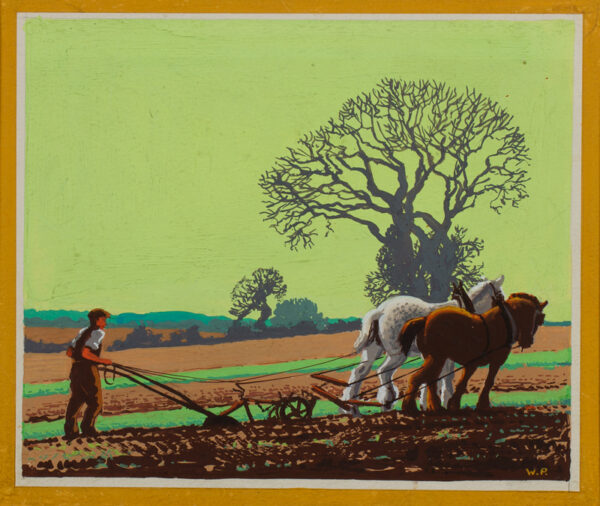 PETTIT Wilfred Stanley (1904-1978) - 'Ploughing'.