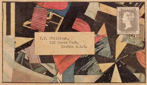 PHILLIPS Tom R.A. (b.1937) - 'Collage envelope'.