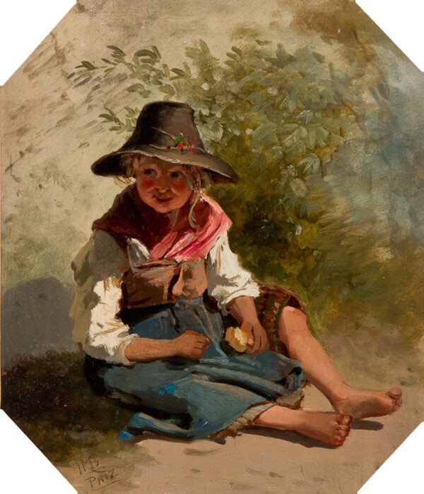 PHIZ (Halbot Knight Browne) (1815-1882) - Study of a child.