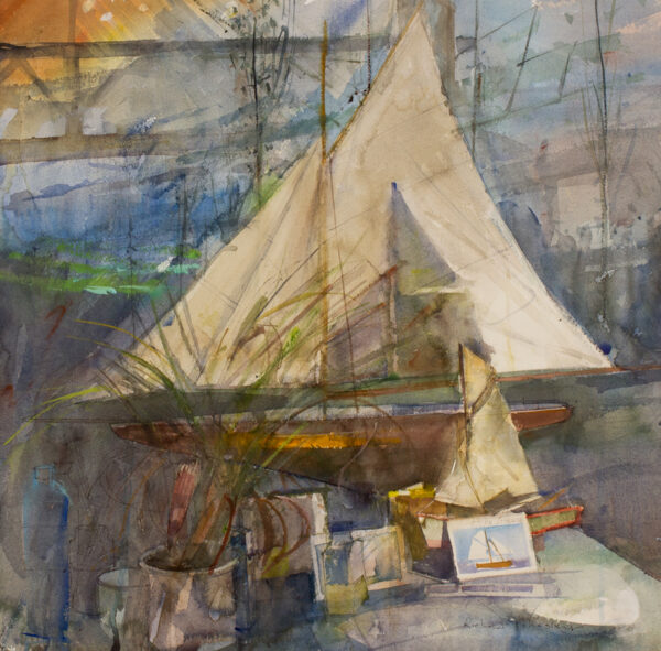 PIKESLEY Richard R.W.S. N.E.A.C. (b.1951) - 'Cotre Corsaire and other vessels'.
