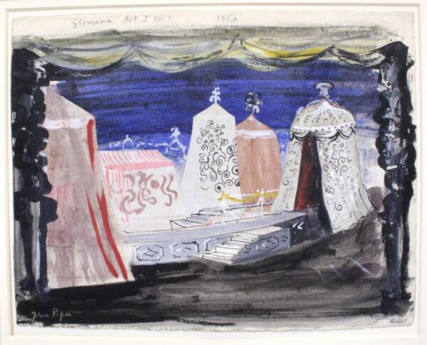 PIPER John C.H. (1903-1992) - 'Gloriana, Act 1, Sc.