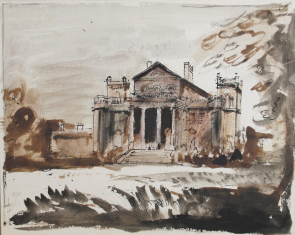 PIPER John C.H. (1903-1992) - The South Front of 'Seaton Delaval'; Northumberland.