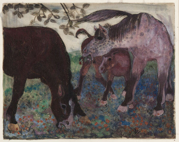 PISSARRO Orovida (1893-1968) - 'Cart Horses'.