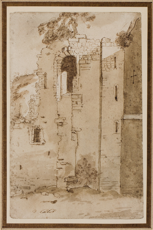 PLACE Francis (1647-1728) - Study of a Norman Keep.