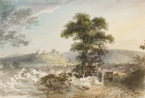 POCOCK Nicholas (1740-1821) - Lanscape study.