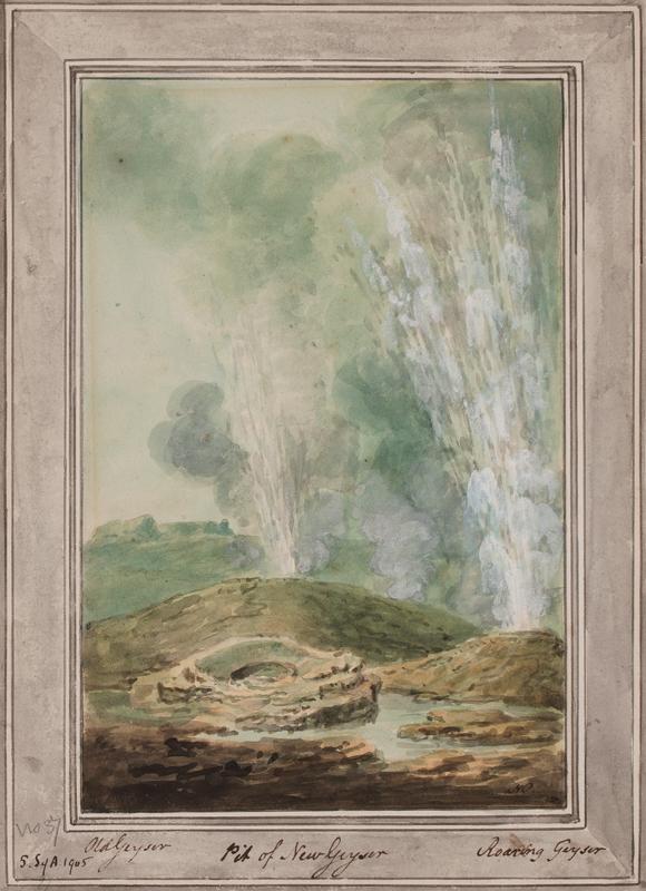 POCOCK Nicholas O.W.S. (1740-1821) - 'Old Geyser / Pit of new Geyser / Roaring Geyser'.