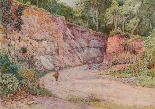 POOLE Samuel (b.1870) - Hopcott Quarry, Somerset.